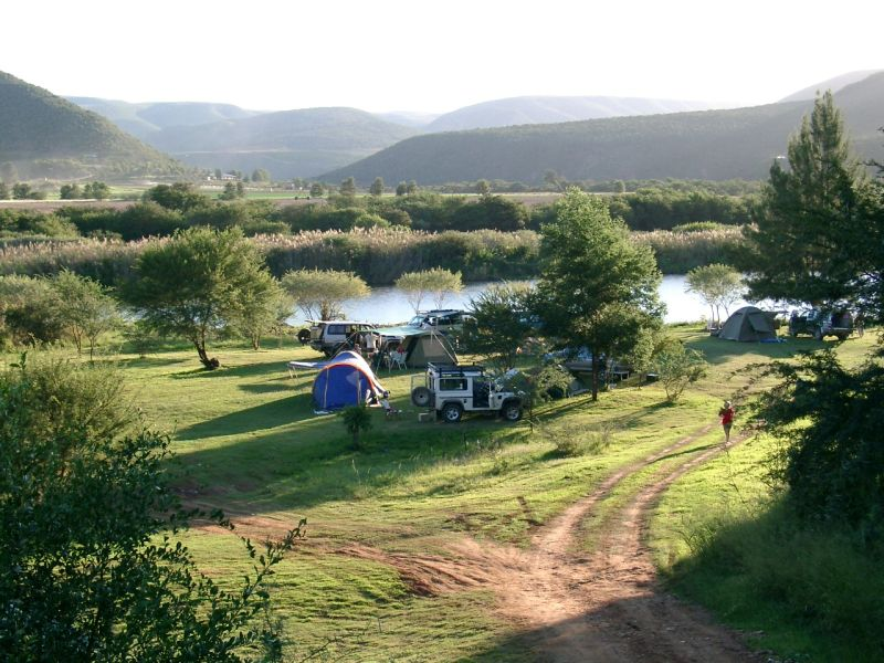 Baviaans campsite on the Gamka river